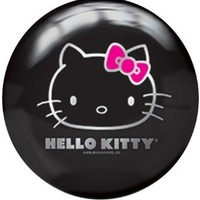 Brunswick Hello Kitty Black Viz-A-Ball Bowling Ball