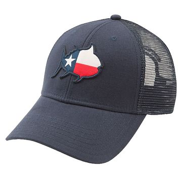 Skipjack State Trucker Hat - TX in Navy by Southern Tide