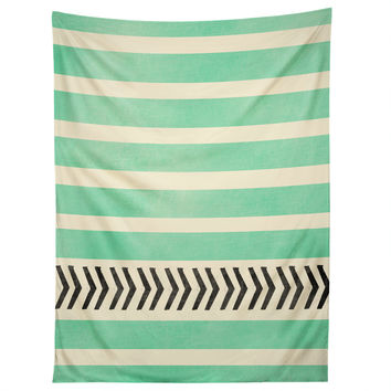 Allyson Johnson Mint Stripes And Arrows Tapestry