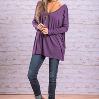 Next Thing You Know Piko Top, Purple