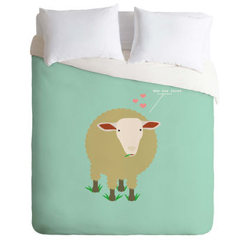 Nicole Martinez Ewe Are Loved Duvet Cover