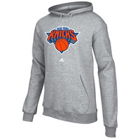 adidas New York Knicks Full Primary Logo Hoodie - Ash