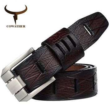 QUALITY cow genuine luxury leather men