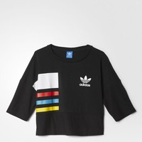 adidas Colorblock Fashion Tee - Black | adidas US