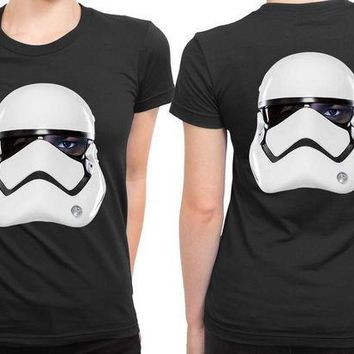 MDIG1GW Star Wars The Force Awakens Fin As Stormtrooper 2 Sided Womens T Shirt