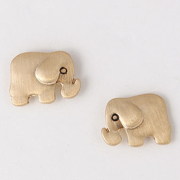 Adorable Elephant Stud Earrings - Gold or Silver