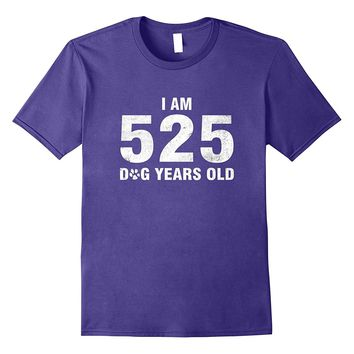 Funny 75th Dog Lover Birthday T-Shirt Math Nerd Gift