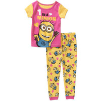 Walmart: Despicable ME Baby Toddler Girl 2-Piece Pajama Set
