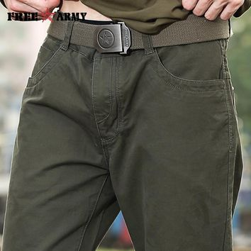 2017 New fashion Male Breeches men's cotton coveralls man workwear leisure trousers Men's military pants Cargo pants Mk-713