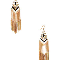 Hieroglyphic Drop Earrings