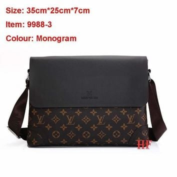 LV Fashionable Casual Leather Man Bag Man's Messenger Bag Shoulder Bag H-MYJSY-BB One-nice™
