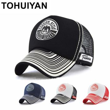 Trendy Winter Jacket TOHUIYAN Letters Print Trucker Cap Casual Bone Casquette Baseball Hat Men Women Summer Adjustable Mesh Hat Hip Hop Snapback Hats AT_92_12