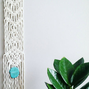 Macrame Curtain- Wall Accent- Bohemian Decor- Modern Macrame- Wall Accent- Boho Home Decor-Wedding Gift- Turquoise- BohoChic- Gypsy Mermaid