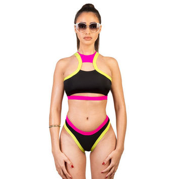 Summer Hot New Arrival Swimsuit Beach Casual Sexy Double Color Low Waist Swimwear Bikini [4914903556]