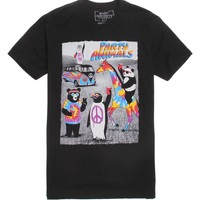 Riot Society Party Animal Tie Dye T-Shirt - Mens Tee - Black