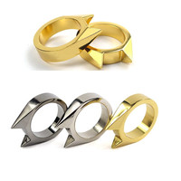 10Pcs/Lot EDC Tactical Self Defense Supplies Tool Stainless Steel Safety Survival Finger Ring Defence Accessories for Men Women