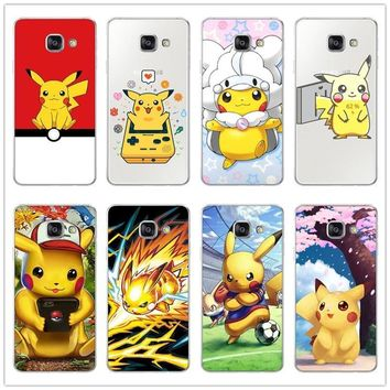 s Characters Black Case Cover Shell Coque for Samsung Galaxy J1  J3 J5 J7 A3 A5 A7 2015 2016 2017 Mobile phone caseKawaii Pokemon go  AT_89_9