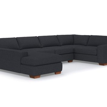 Melrose 3pc Sectional Sofa LAF in CHARCOAL - CLEARANCE