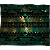 Caleb Troy Gatsby Dust Tribal Fleece Throw Blanket