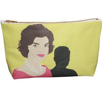 Jackie Onassis Kennedy Makeup Bag – Illustrated and Handmade in the USA