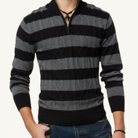 Cable Knit Rugby Pullover