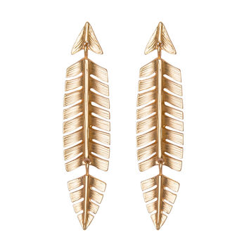 Holiday Feather Statement Earrings