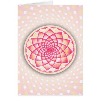 Spiritual Rangoli Art Sacred Geometry Card