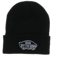 Black Vans Off The Wall Winter Beanies Truck Cap Knit Hat Unisex Plain Warm Soft Beanie Skull Knit Cap Hat Knitted Vans Shoes Beanie