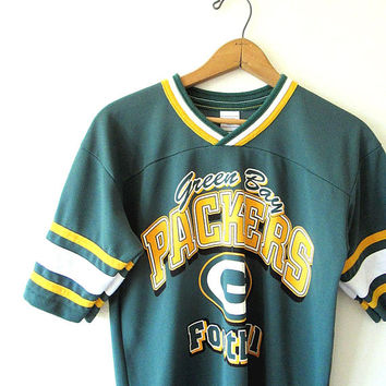 Vintage 1990s GREEN BAY PACKERS Mesh Football Jersey Tee Kids Sz L (14/16)
