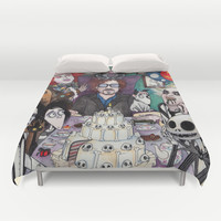 TIM BURTON TEA PARTY Duvet Cover by VinceGabriel | Society6