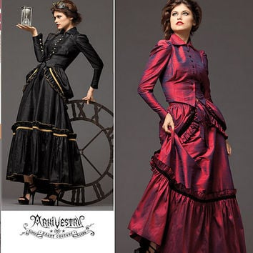 Victorian Dress Pattern, Steampunk Dress, Bustle Dress, Bustle Pattern, New Simplicity 2207 Pattern, Plus Sizes