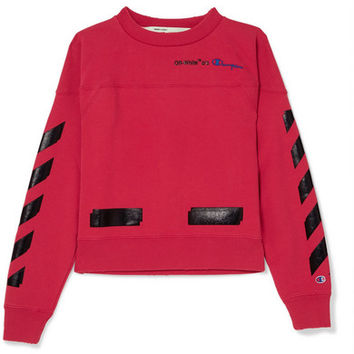 Off-White - + Champion printed cotton-blend jersey sweatshirt