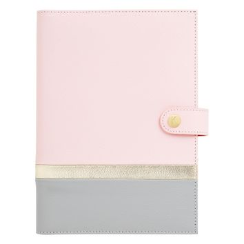 A5 LEATHER NOTEBOOK PINK: LOVE LIFE
