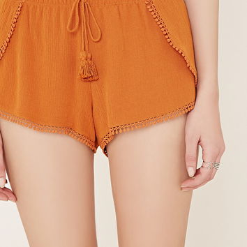 Crochet-Trim Tulip Shorts | Forever 21 - 2000170054