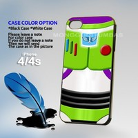 Buzz Lightyear toy story, Print on Hard Cover iPhone 4/4S Black Case