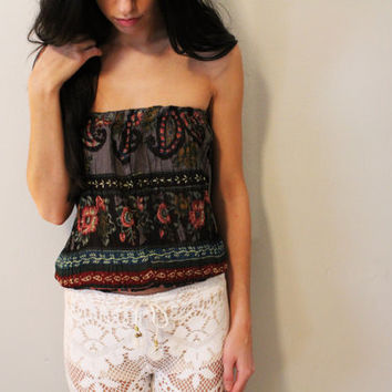 Indian Boho Tube Top.