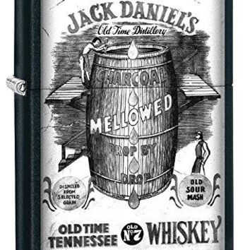 Jack Daniel's Zippo Lighter Outdoor Indoor Windproof Lighter Free Customize Personalized Engrave Message Permanent Lifetime Engraving on Backside (Style33)