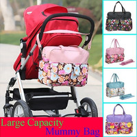 Fashion MultiColored Tote Nappy Bags Cross-body Multifunctional Mummy Bags Maternity Shoulder Diaper Bags