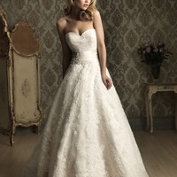 Allure Bridals 8850 Lace Ball Gown Wedding Dress