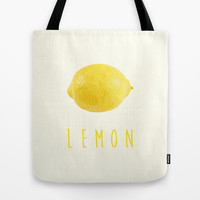 Lemon Tote Bag by DAILY INQ