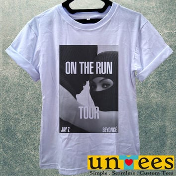 Low Price Women's Adult T-Shirt - Beyonce and Jay Z On The Run Tour design