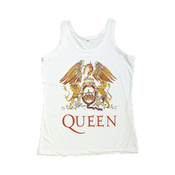 Freddie Mercury Shirt Queen Rock Band Tank Top Women Tshirt Size S M L