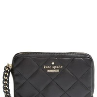 Women's kate spade new york 'emerson place - essa' quilted leather wristlet - Black