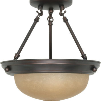 Small Dome Semi Flush Ceiling Light Fixture