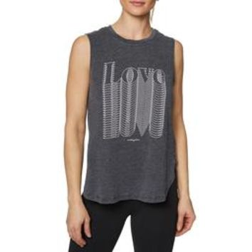OVERLAPPING LOVE MUSCLE TANK BLACK