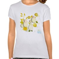 Birds and Lemons illustration shirt