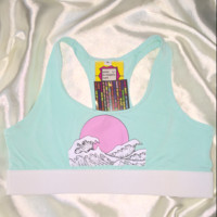 SWEET LORD O'MIGHTY! WAVY SPORTY BRALET IN MINT