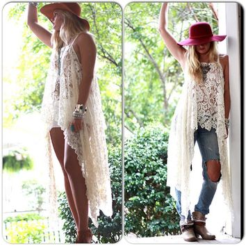 Gypsy Tunic Dress, Bohemian Magnolia lace Pearl tunic, Boho dresses Stevie Nicks Style, Vagabond wanderer, Romantic, True Rebel clothing Med