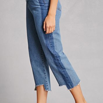 Cropped High-Waist Jeans