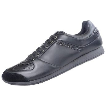 Versace Jeans Leather/Suede Black Trainers